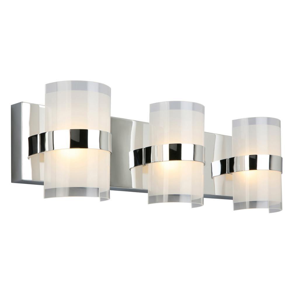 Home Depot Bathroom Lighting: Design House Haswell 24-Watt Polished Chrome Integrated