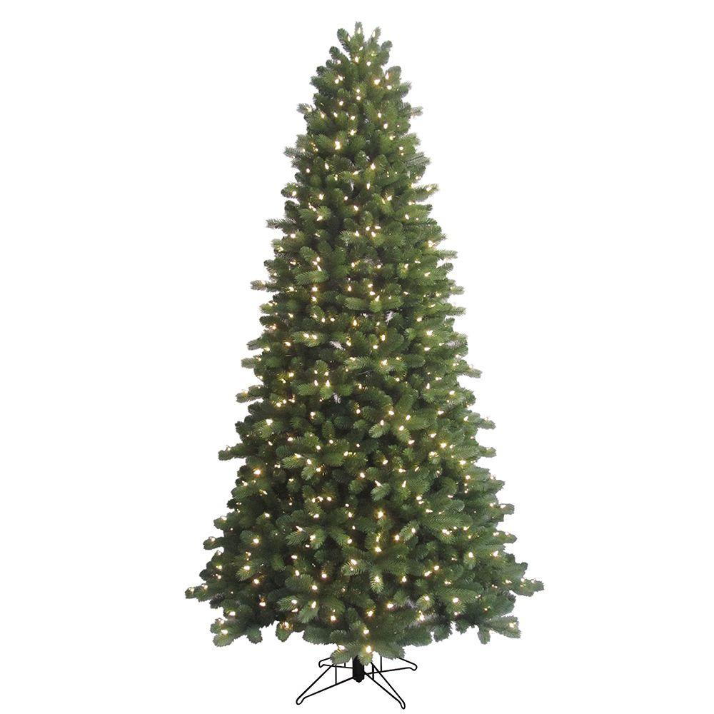 indoor pre lit led energy smart spruce artificial christmas tree with - Prelit Led Christmas Trees