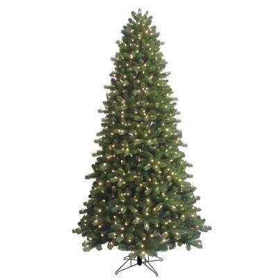 indoor pre lit led energy smart spruce artificial christmas tree with color
