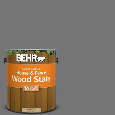 1 gal. #N520-5 Iron Mountain Solid House and Fence Wood Stain