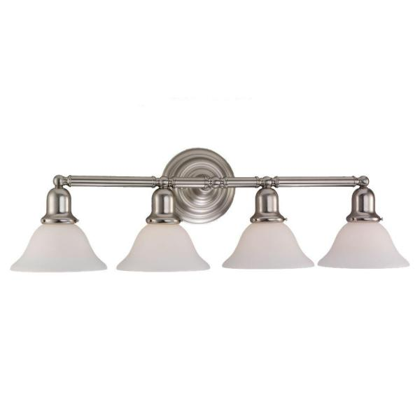 Sussex 4-Light Brushed Nickel Vanity Light