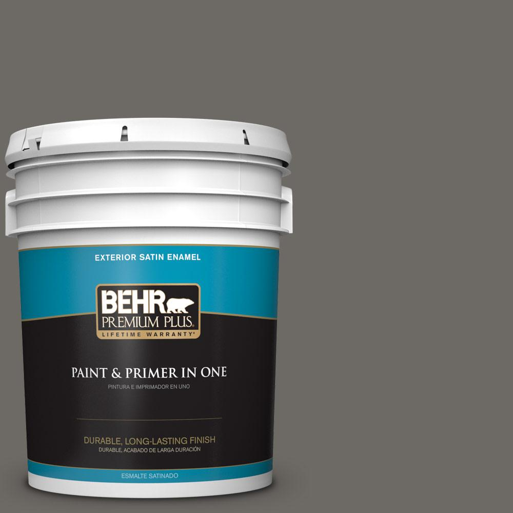 5 gal. #PPU18-18 Mined Coal Satin Enamel Exterior Paint