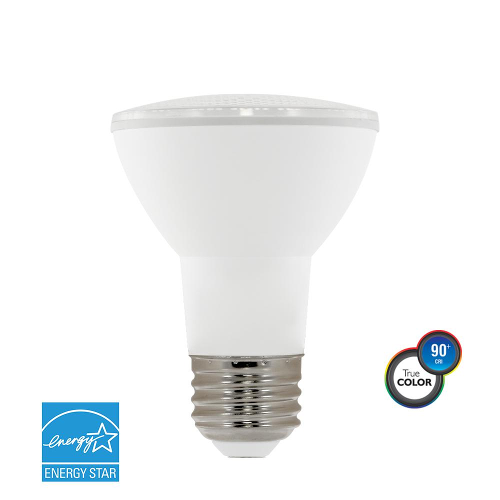 Daylight led bulbs light bulbs the home depot 50w equivalent bright white par20 dimmable led light bulb nvjuhfo Image collections