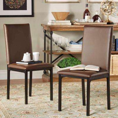 Bedford Brown Faux Leather Dining Chair (Set of 2)
