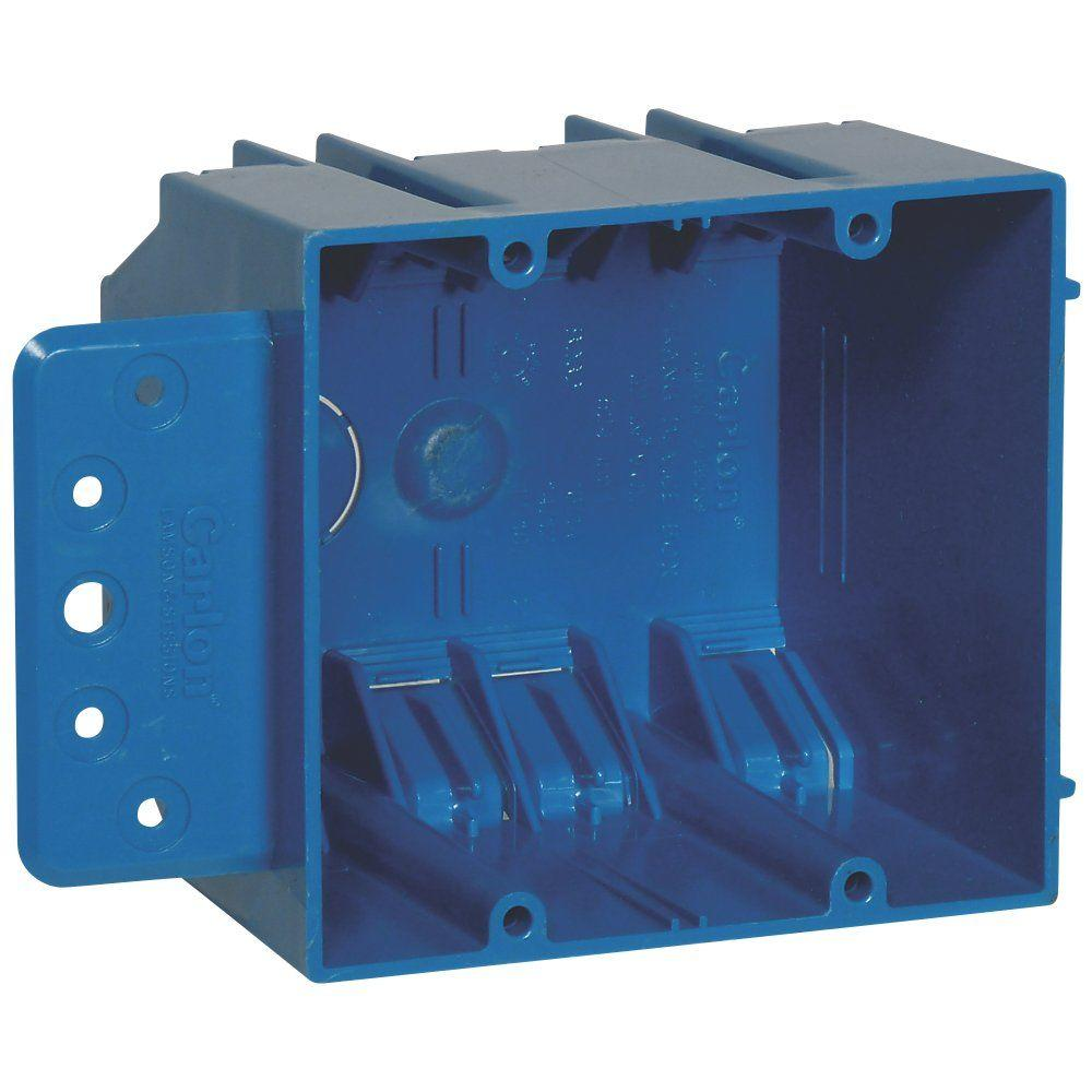 Carlon 2-Gang 32 cu. in. New Work PVC Electrical Box with Flange