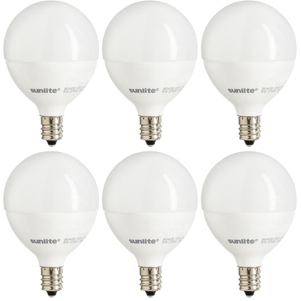 Sunlite 40-Watt Equivalent Warm White G16.5 Dimmable LED