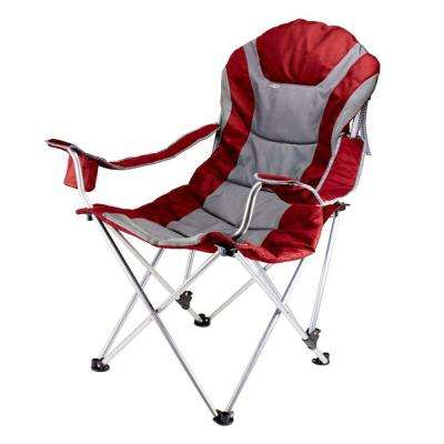Reclining Camp Dark Red Patio Chair