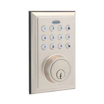 Bluetooth Digital Single Cylinder Deadbolt Lock, Satin Nickel