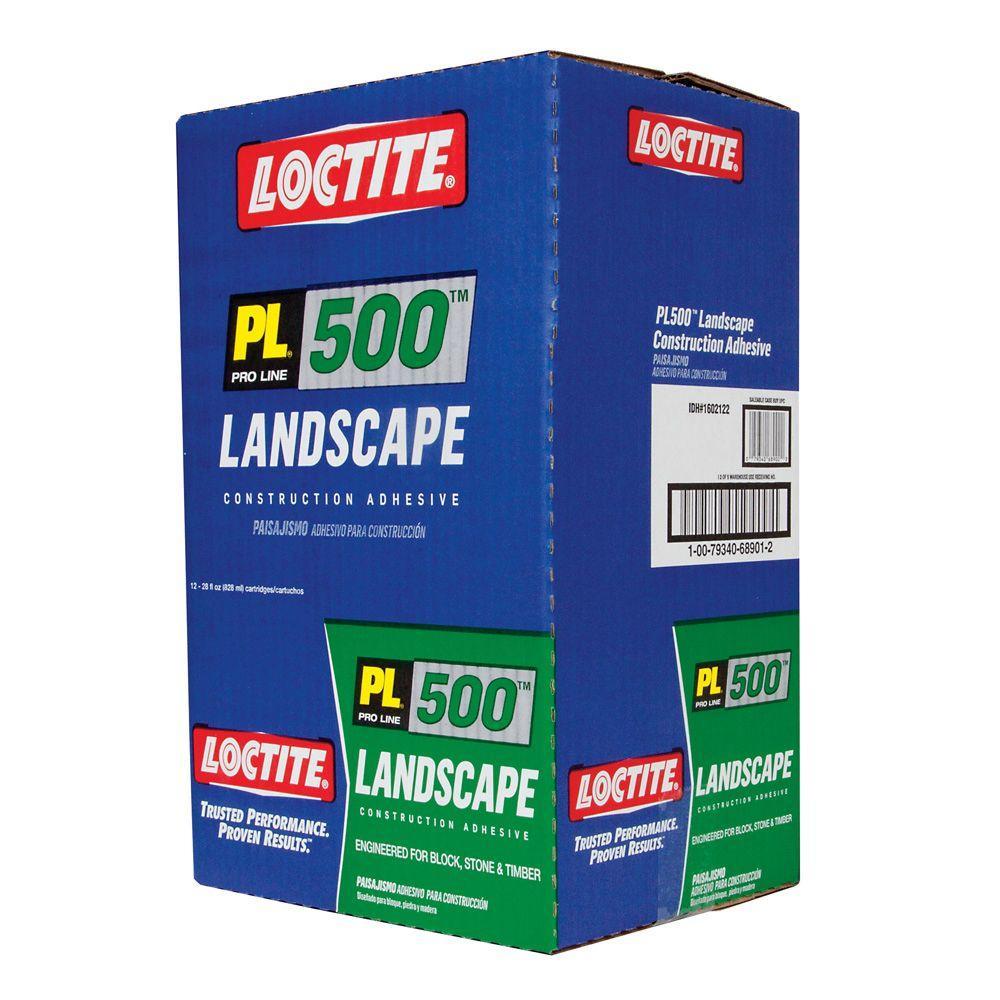 Loctite PL 500 10 fl. oz. VOC Landscape Block Adhesive (12-Pack) by Loctite