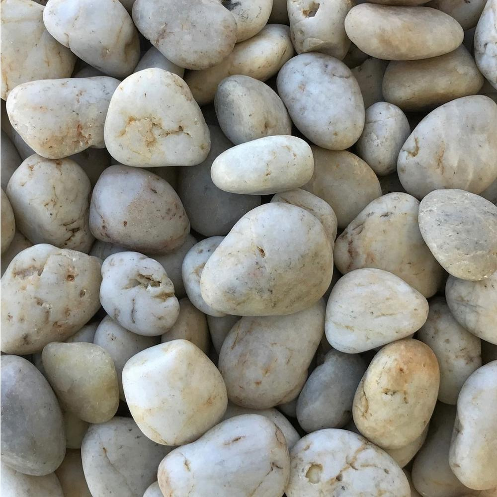 Butler Arts 0.25 cu. ft. 20 lb. 3/4 in. to 1-1/2 in. Dusty Eggshell Polished Decorative Landscaping Pebble