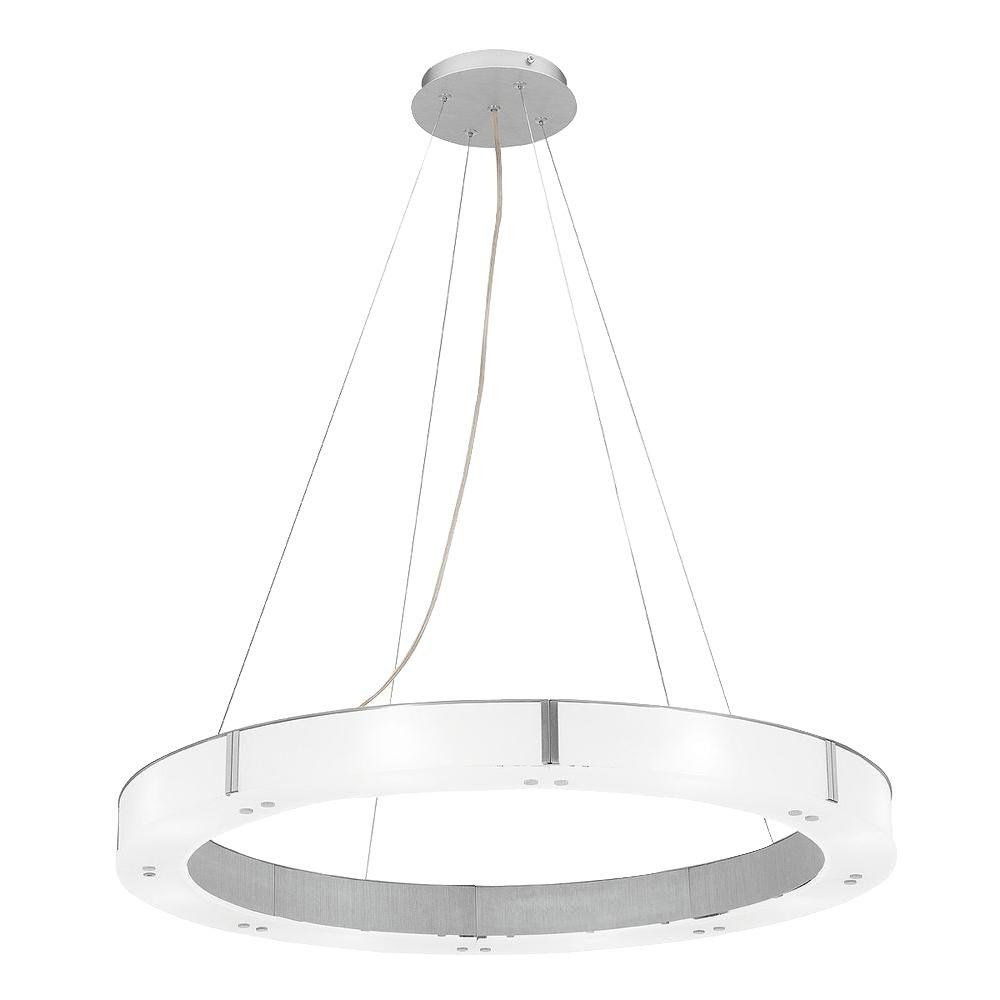 Access Lighting 8-Light Chandelier Aluminum Finish Frosted Glass-DISCONTINUED