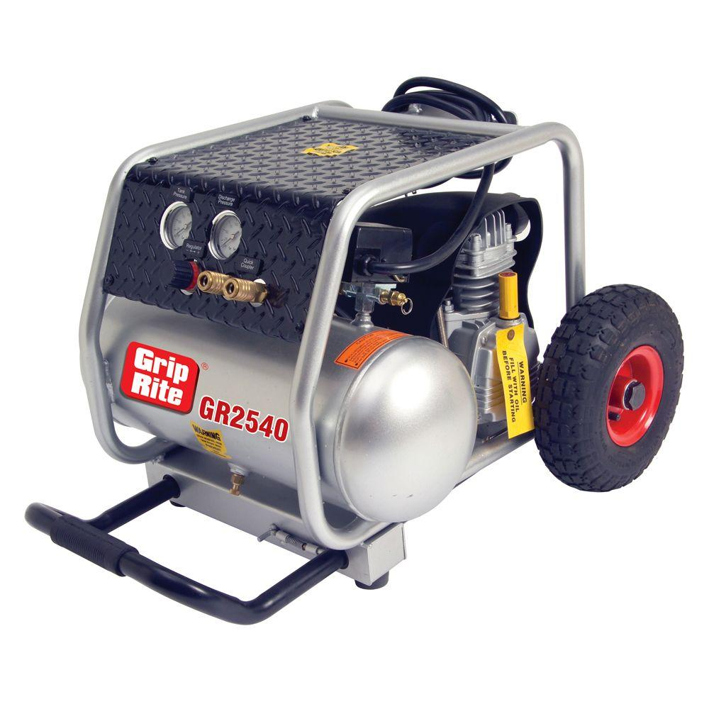 Grip-Rite 4-Gal. Portable Single Tank Wheeled Compressor-DISCONTINUED