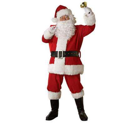 X-Large Regal Regency Plush Santa Suit Costume for Adult