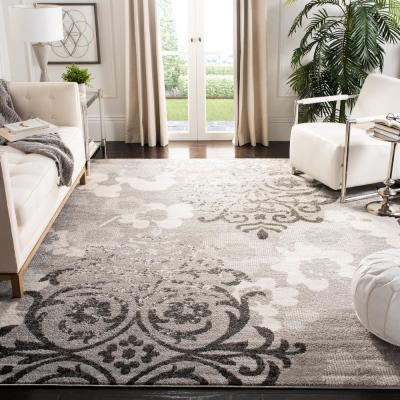 Adirondack Silver/Ivory 8 ft. x 10 ft. Area Rug
