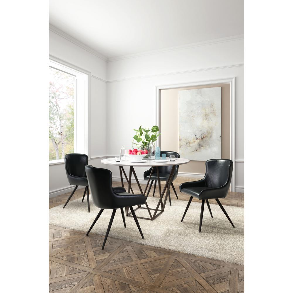 Pleasant Zuo Dresden Black Dining Chair Set Of 2 100757 The Home Andrewgaddart Wooden Chair Designs For Living Room Andrewgaddartcom