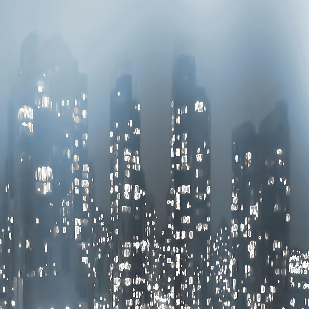 """54 in. x 54 in. """"Dark City"""" by Norm Stelfox Wall Art"""
