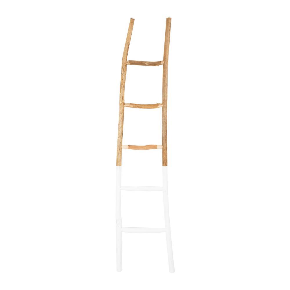 White Decorative Wood Ladder