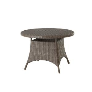 Deals on Hampton Bay Torquay Round Steel Outdoor Dining Table