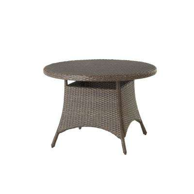 Magnificent Torquay Brown Round Steel Outdoor Dining Table With Wicker Top Download Free Architecture Designs Photstoregrimeyleaguecom