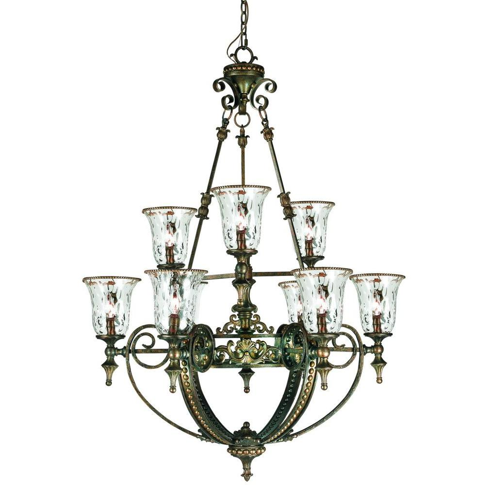Eurofase Gallante Collection 9-Light 163 in. French Gold Chandelier--DISCONTINUED