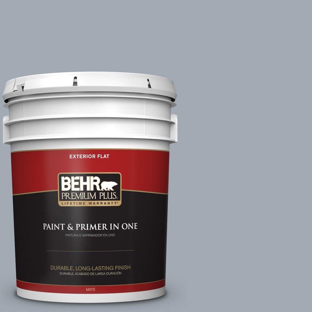 BEHR Premium Plus 5-gal. #T13-6 Twilight Flat Exterior Paint