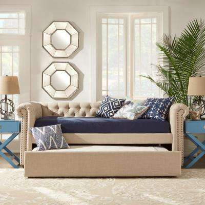 Radcliffe Beige Trundle Daybed