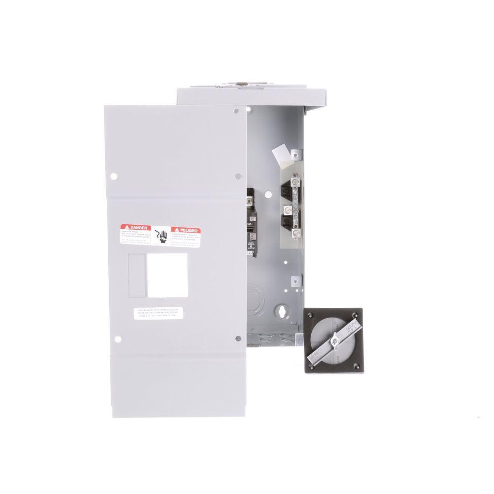 100 Amp 2-Space 4-Circuit Main Breaker Load Center