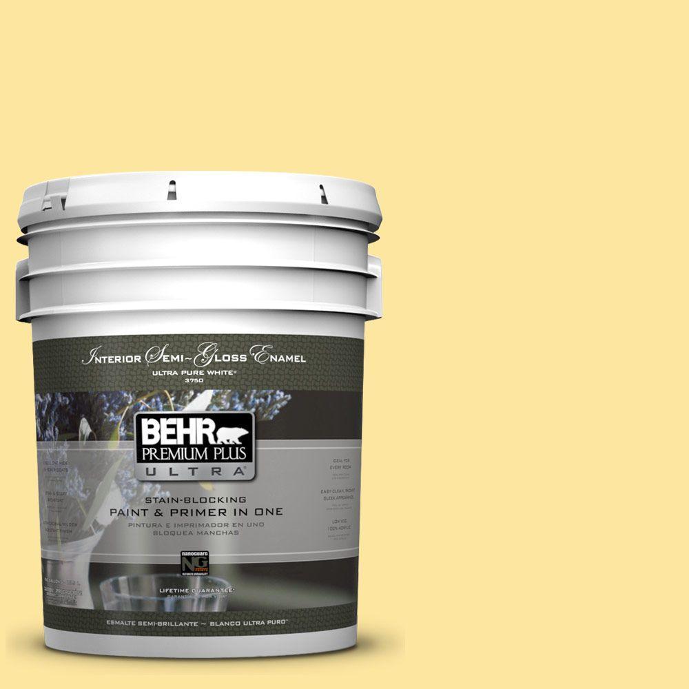 BEHR Premium Plus Ultra 5-gal. #PMD-10 Equator Glow Semi-Gloss Enamel Interior Paint