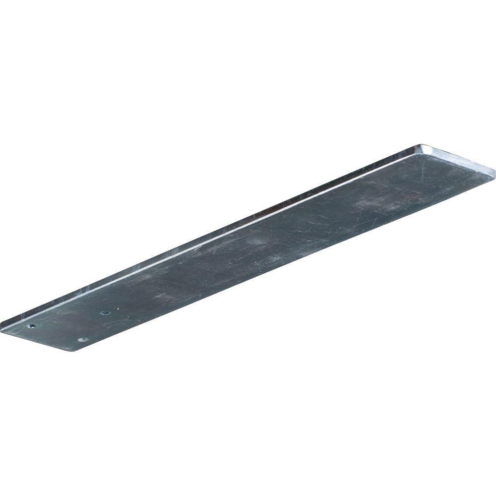 Ekena Millwork 16 in. x 3 in. x 1/4 in. Steel Unfinished Metal Logan Bracket