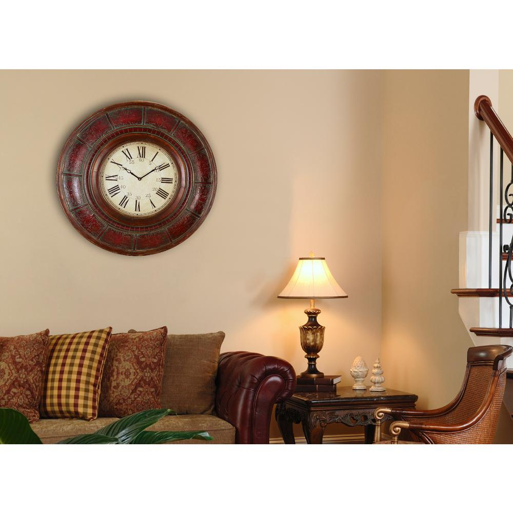 36 in x 36 in oversized farmhouse wood wall clock 036hclw the gallery wall clock amipublicfo Image collections