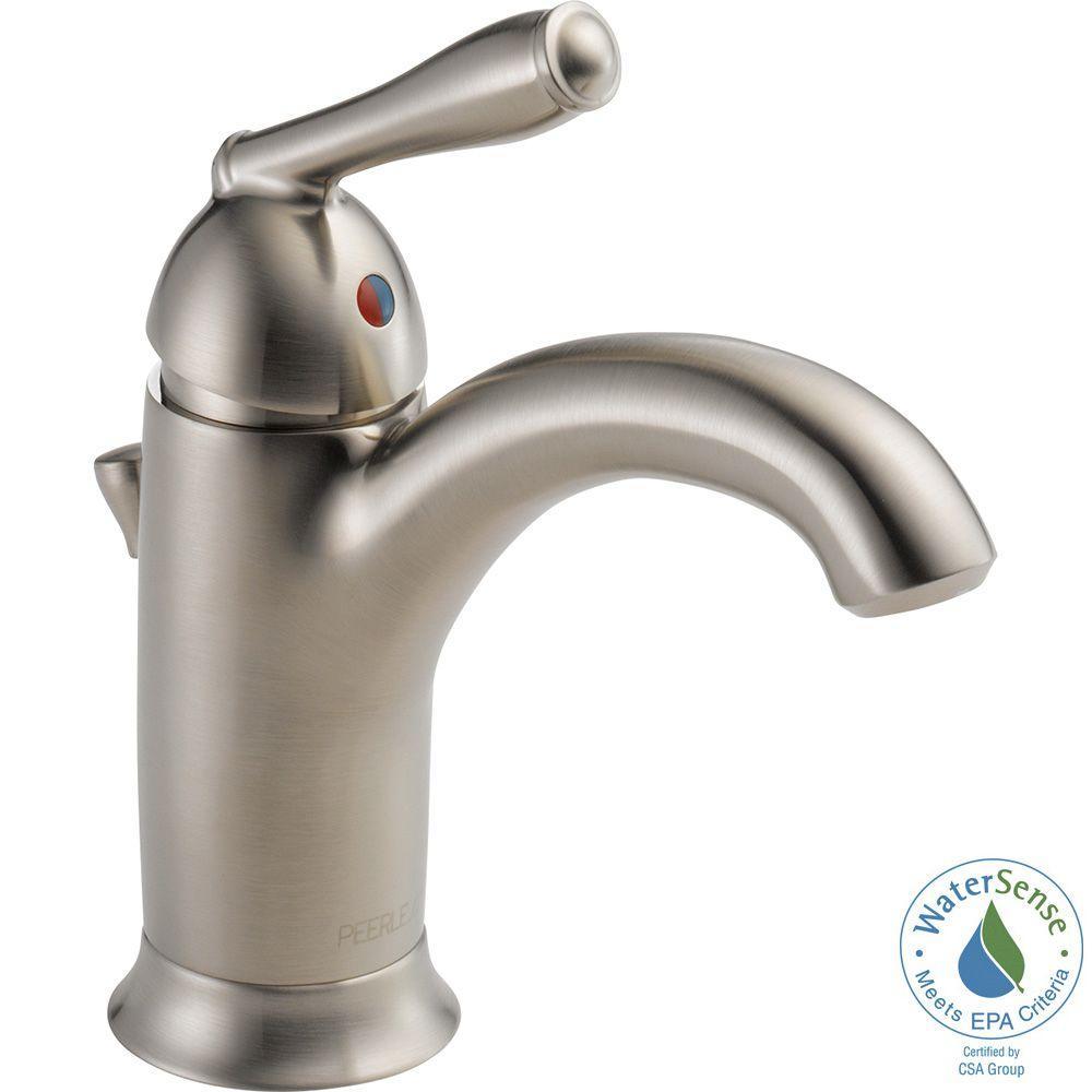 Apex Single Hole Single-Handle Bathroom Faucet in Brushed Nickel