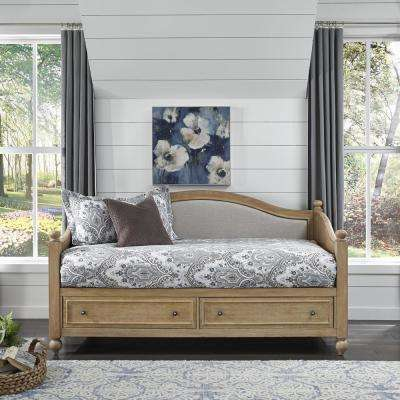 Cambridge White Wash Natural Upholstered Daybed