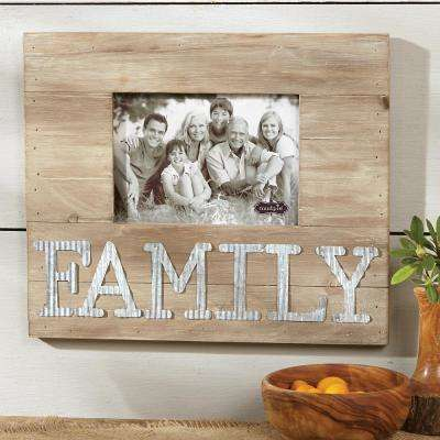 5 in. x 7 in. Family Pine and Tin Horizontal Frame