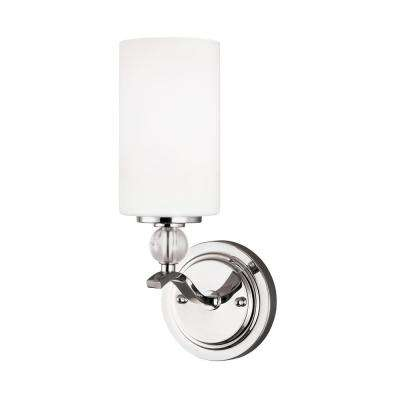 Englehorn 1-Light Chrome Bath Light with LED Bulb
