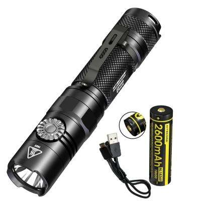 Multitask Series EC22 1000 Lumens Infinite Variable Brightness LED Flashlight with USB Rechargeable Battery