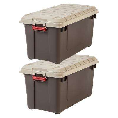 82-Qt. WeatherTight Storage Box Store-It-All Utility Tote in Black (2-Pack)