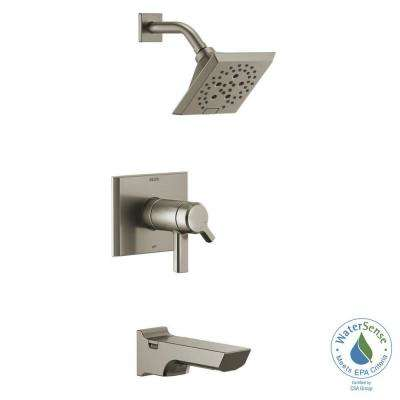 Pivotal TempAssure H2Okinetic Technology 1-Handle Wall-Mount Tub and Shower Trim Kit in Stainless (Valve Not Included)