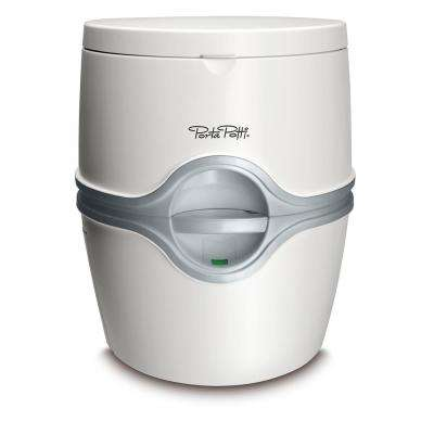 Porta Potti 1-Piece 0.07 GPF Single Flush Round Electric Toilet in White