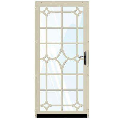 Lexington Outswing Security Door with Glass Insert and Oil Rubbed Bronze Hardware