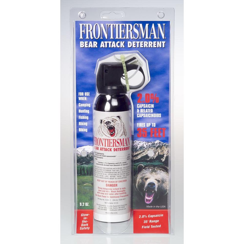 Bear Protection With Frontiersman Bear Spray: Frontiersman Bear Attack Deterrent With Belt Holster-FBAD