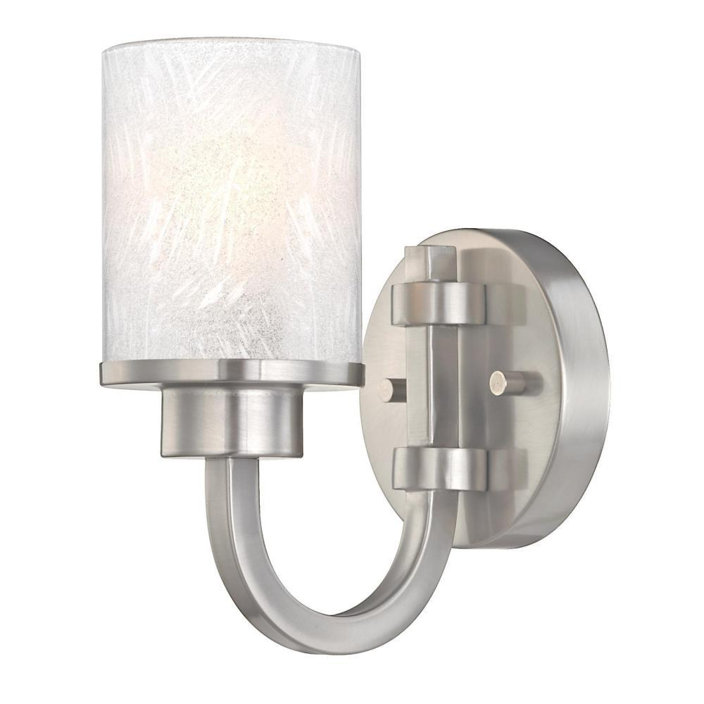 Westinghouse Ramsgate 1-Light Brushed Nickel Wall Mount Sconce