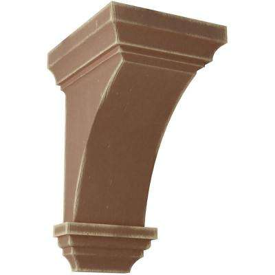 6 in. x 12 in. x 6-3/4 in. Weathered Brown Large Jefferson Wood Vintage Decor Corbel