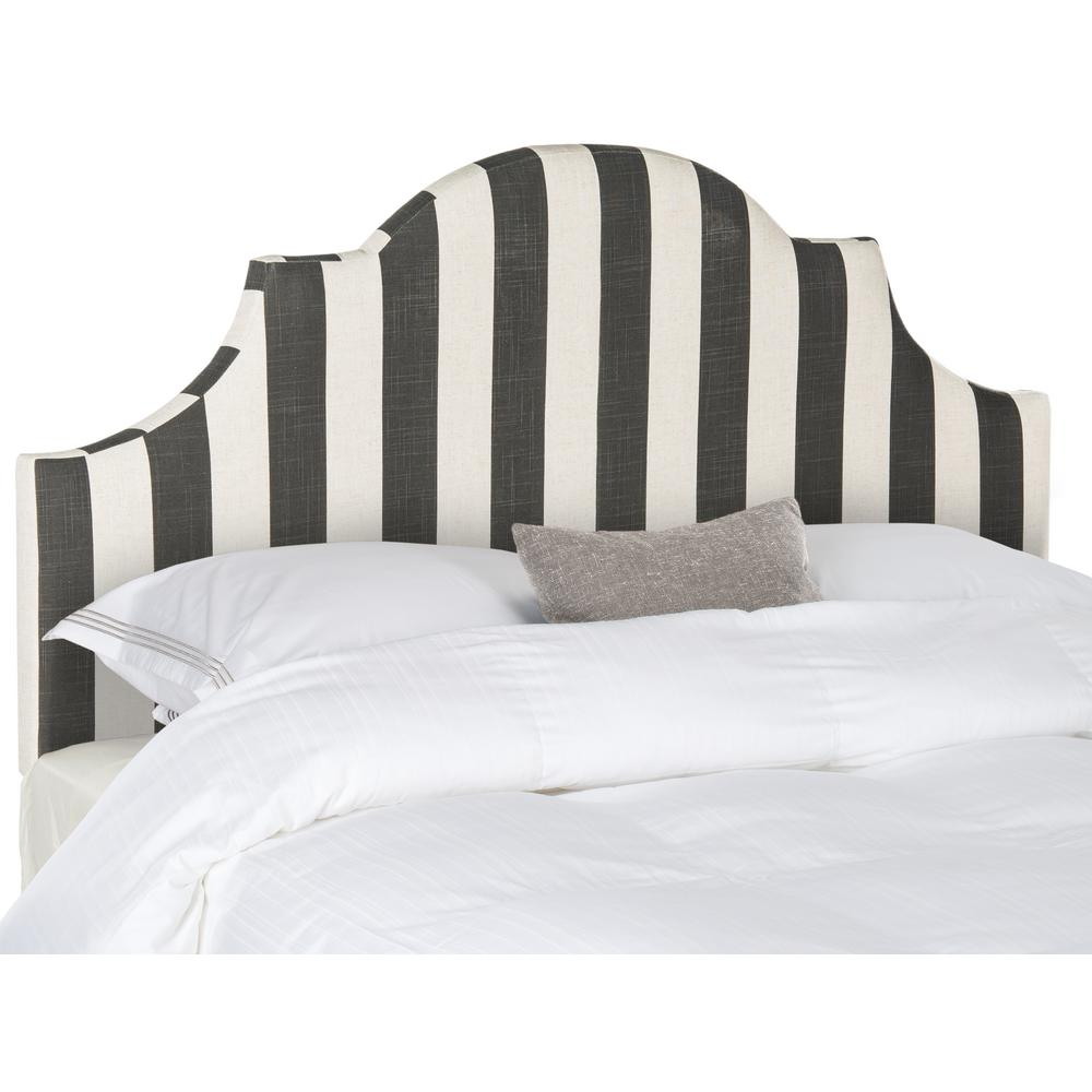 Hallmar Black White Stripe King Headboard