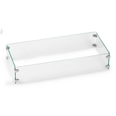 Tempered Glass Flame Guard for 30 in. x 10 in. Rectangular Drop-in Fire Pit Pan