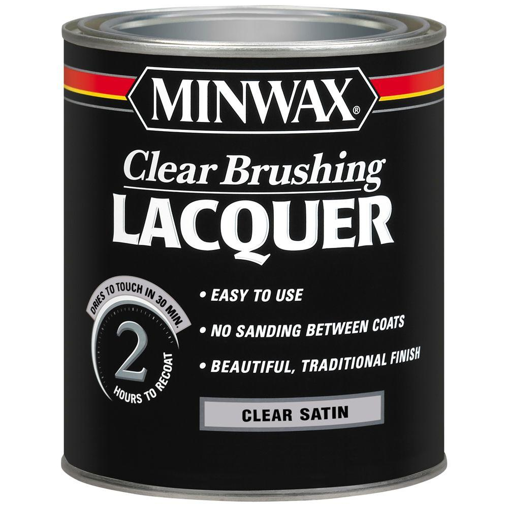 Minwax 1 qt. Clear Satin Brushing Lacquer (4-Pack)