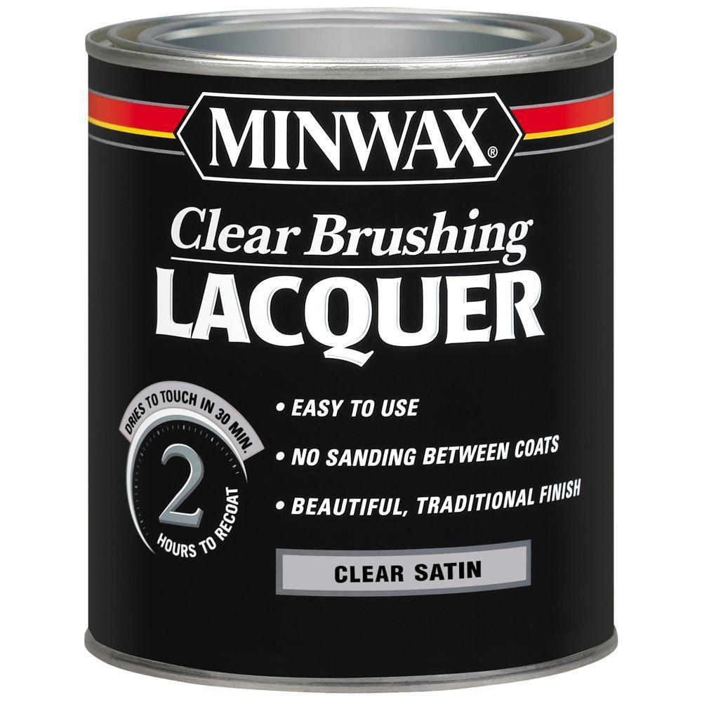 Minwax Minwax 1 qt. Clear Satin Brushing Lacquer (4-Pack)