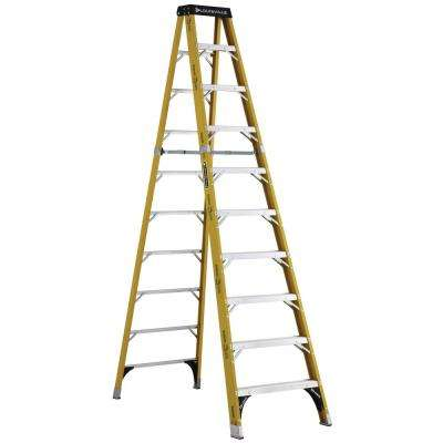 10 ft. Fiberglass Step Ladder with 375 lbs. Load Capacity Type IAA Duty Rating