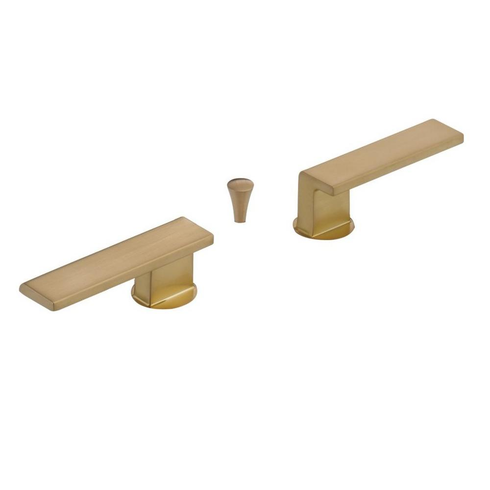 Vero Lever Handles for Bathroom Faucets in Champagne Bronze