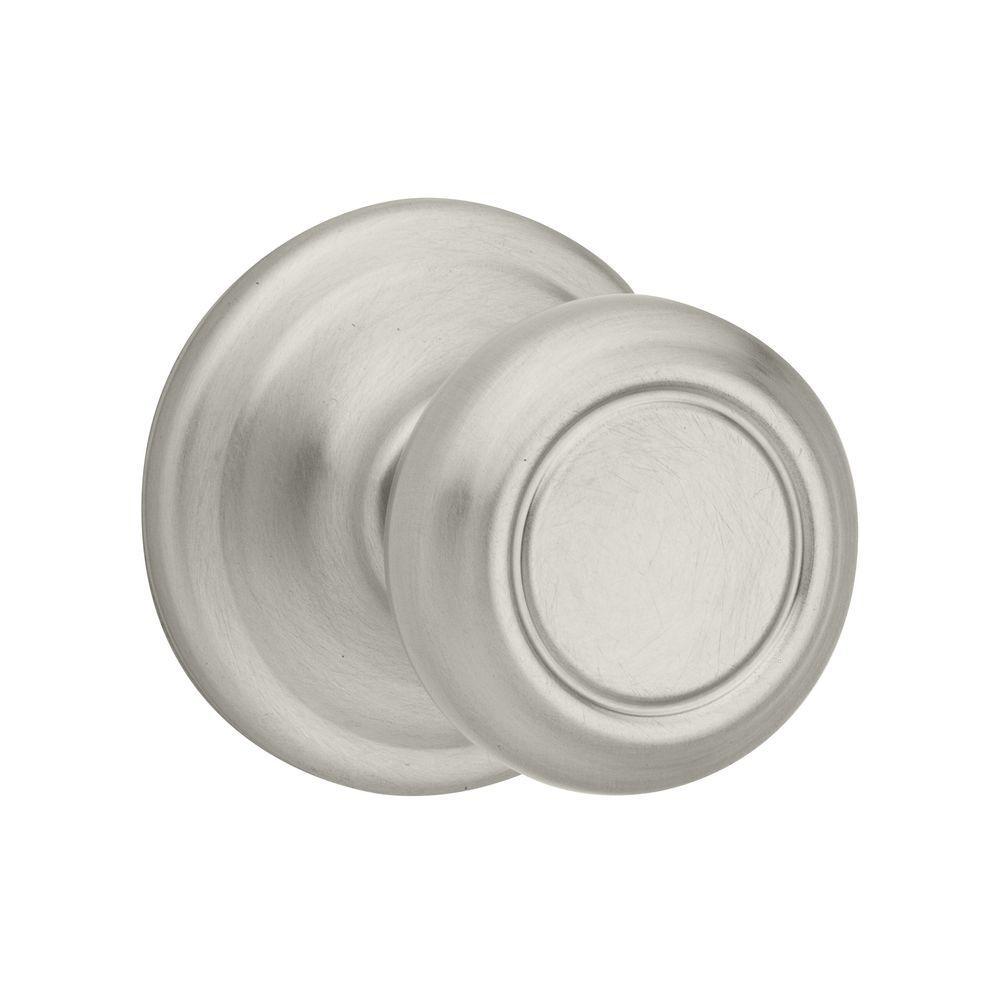 Cameron Satin Nickel Passage Hall/Closet Door Knob  sc 1 st  The Home Depot & Kwikset - ANSI Grade 2 (Better) - Door Knobs - Door Hardware - The ...