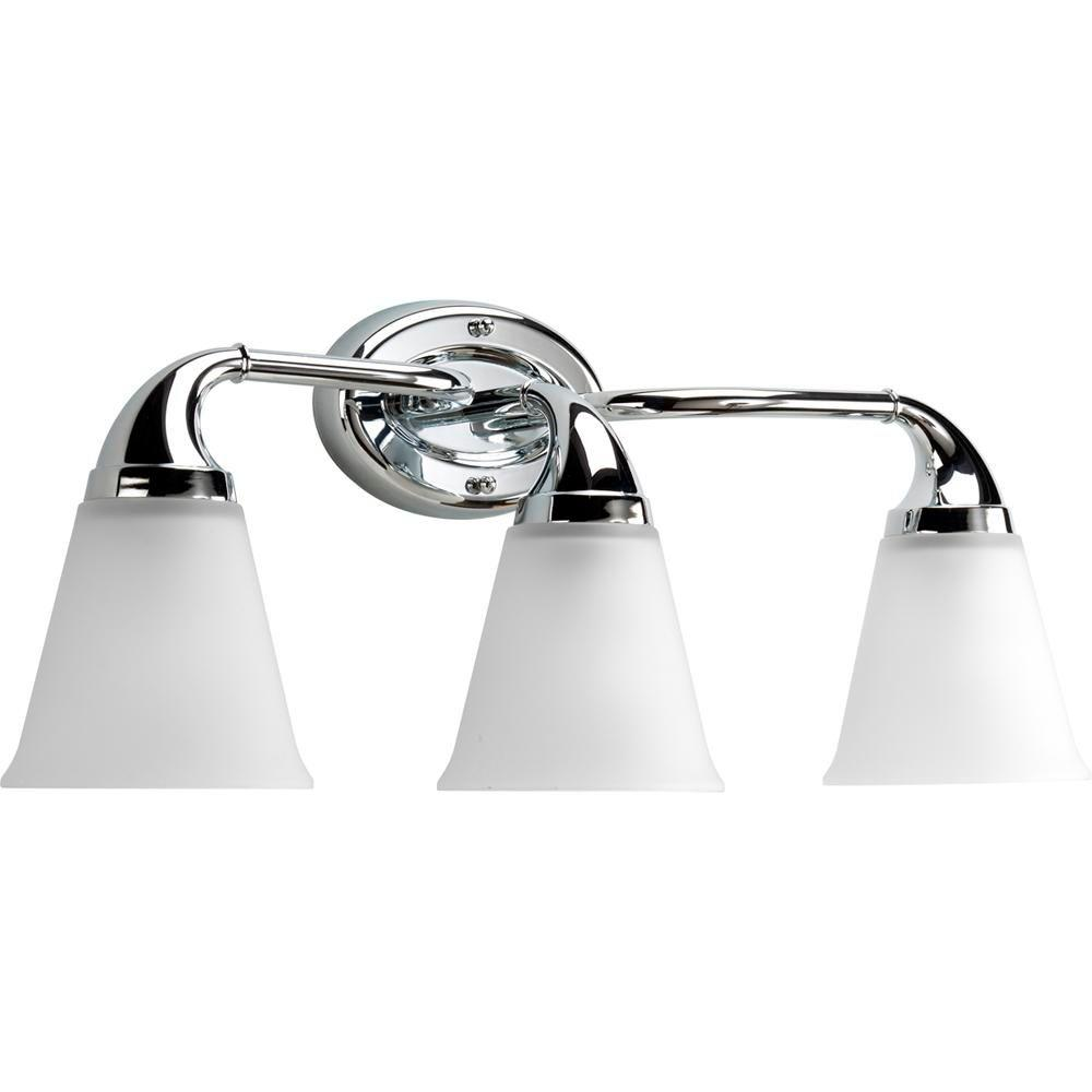 bathroom light fixtures chrome progress lighting lahara collection 3 light chrome 16079